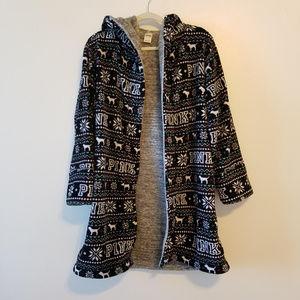 Victoria's Secret PINK cozy robe christmas XS